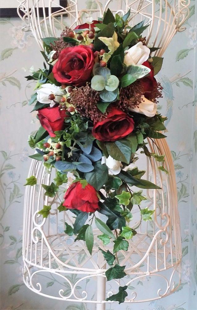 Details about Rose Ivy Brides Autumn Winter Cascading