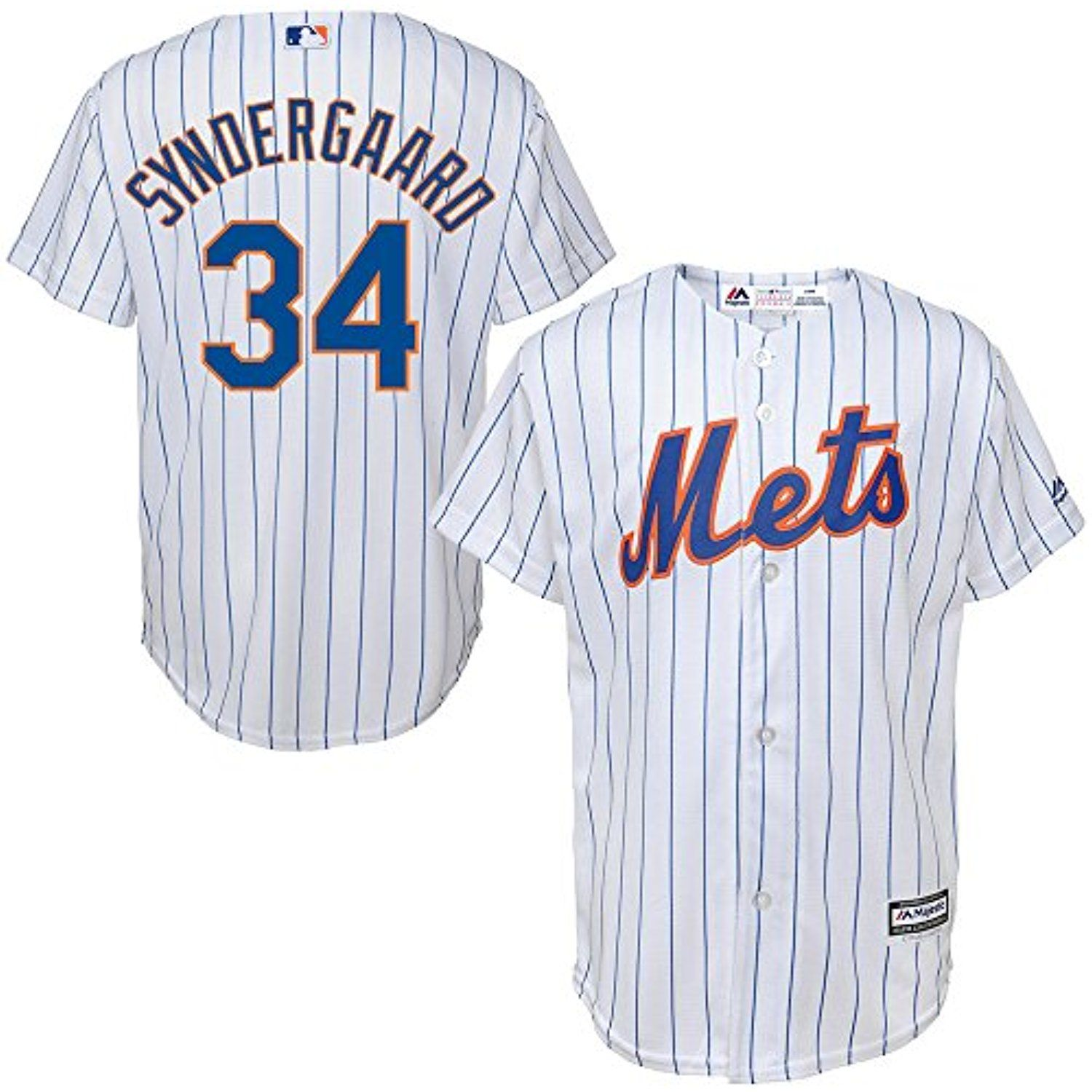 ab3d636a Noah Syndergaard New York Mets MLB Majestic Youth White Home Cool Base  Replica Jersey (Size Medium 10-12) -- More info could be found at the image  url.
