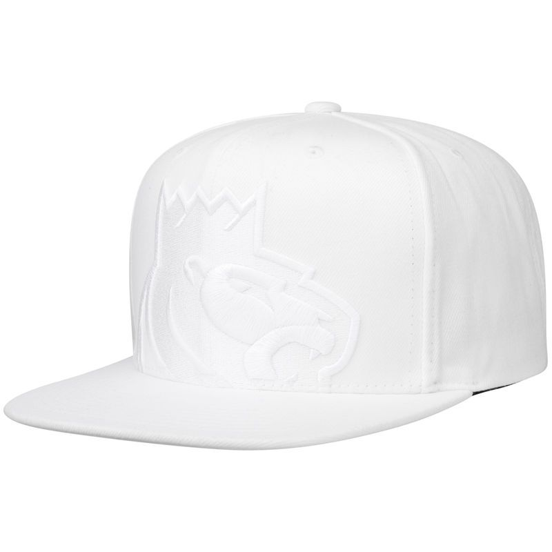 Sacramento Kings Mitchell Ness Cropped Xl Logo Snapback Adjustable Hat White Sacramento Kings Adjustable Hat Hats