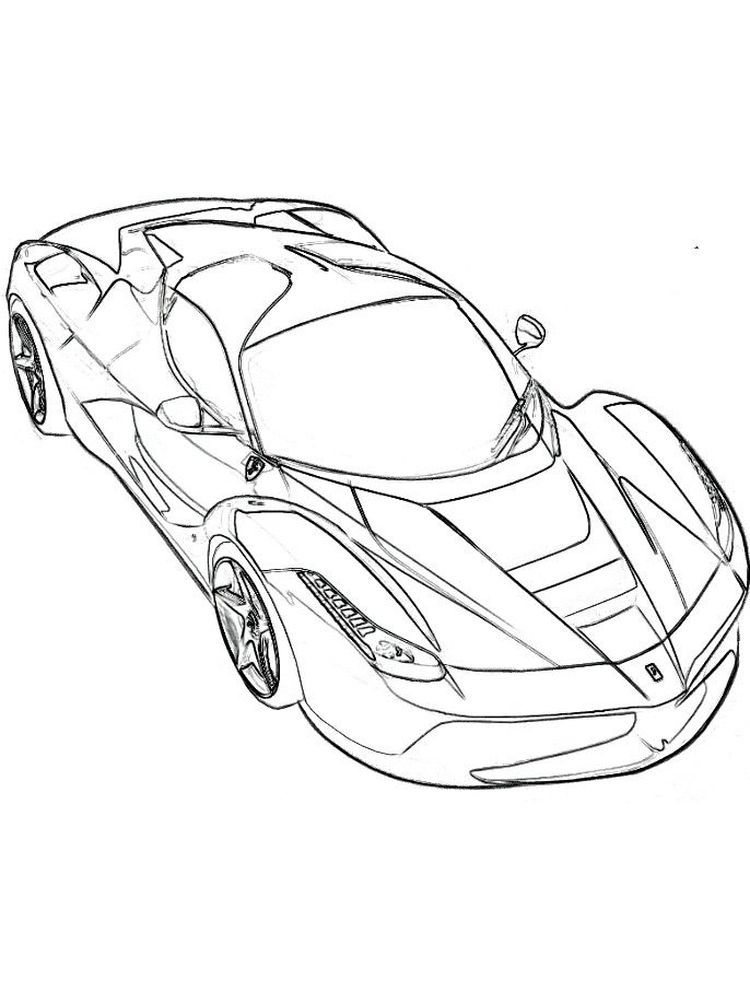 Free Printable Ferrari Coloring Pages Di 2020