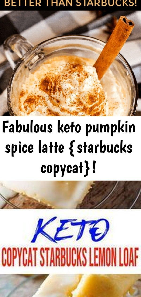 Fabulous keto pumpkin spice latte {starbucks copycat}! #pumpkinspiceketocoffee Fabulous Keto Pumpkin Spice Latte {Starbucks Copycat}! If you're craving a Pumpkin Spice Latte from Starbucks but don't want to break your keto diet, look no further than this Starbucks copycat recipe that is perfectly keto compliant! This pumpkin spice keto coffee recipe makes for a fabulous keto breakfast recipe or keto snack recipe. I hope you enjoy this low carb coffee! Keto Lemon Loaf Bread! AMAZING ketogenic die #pumpkinspiceketocoffee