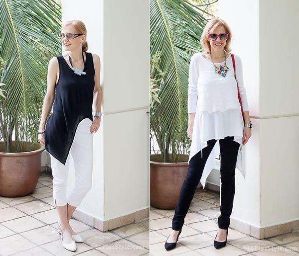 90d823e2805 How to wear leggings over 40