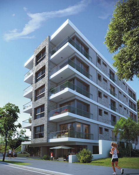 Fachada materialidade edificios modernos pinterest for Fachadas de departamentos modernos