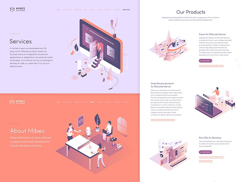Mibex Website Pages Webpage Design Web Design Isometric Design