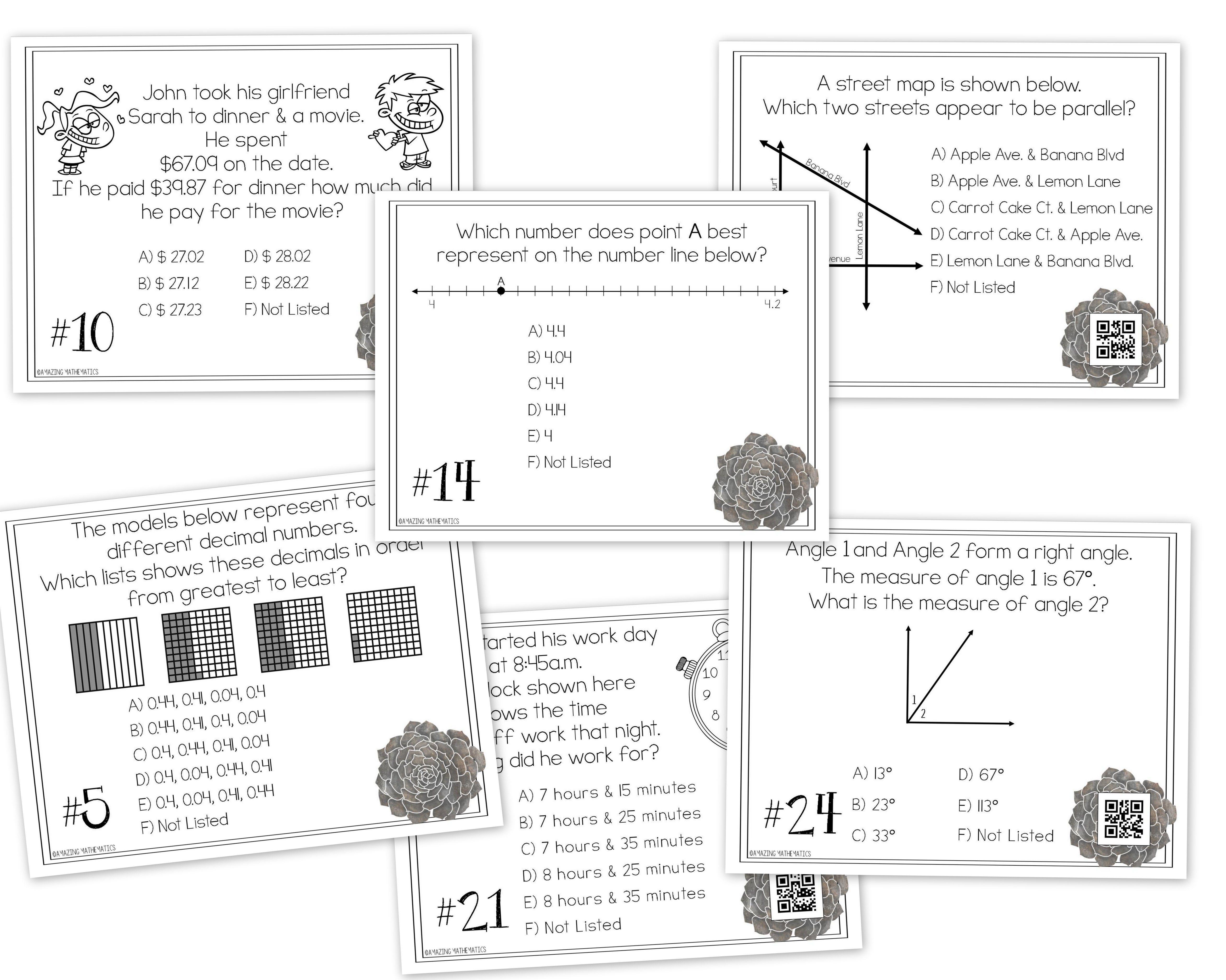 4th Grade Math Staar Review Amp Prep