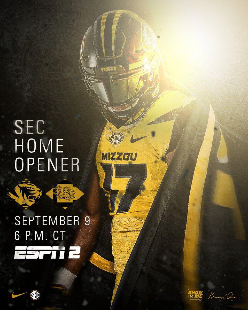 Missouri College Football Poster Football