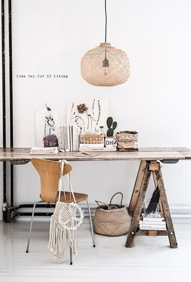 Need a desk ASAP, or looking for a way to squeeze another workspace into your home? Most of these desks are so simple to assemble, the inspiration image alone is all the how-to you'll need. First, pick a base—wood or metal sawhorses, storage cabinets, and trestle legs will all do the trick—then select a work surface, such as plywood or plexiglass. (Just be sure your base is sturdy enough to support the weight of whatever top you choose). Put the two together, and you have a desk you can a...