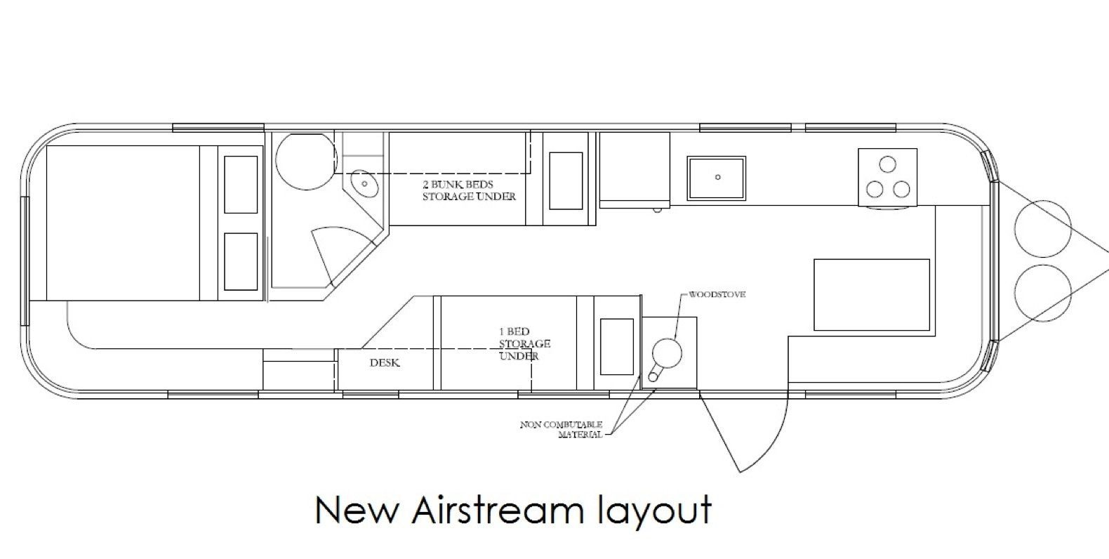 Dwell A Gleaming Airstream Borrows Space Saving Tips From Boat Design Airstream Airstream Land Yacht Yacht Flooring