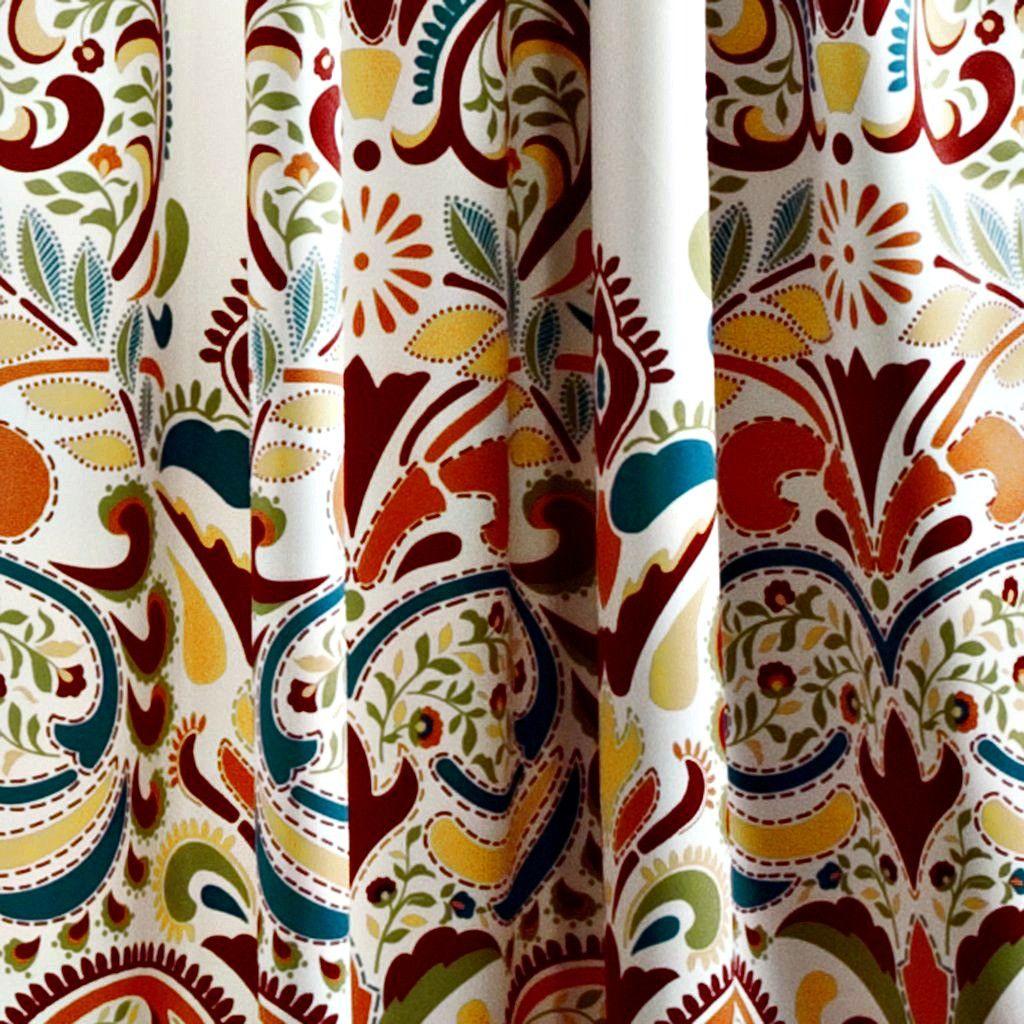 Sirina boho moroccan paisley floral window curtain panel set save