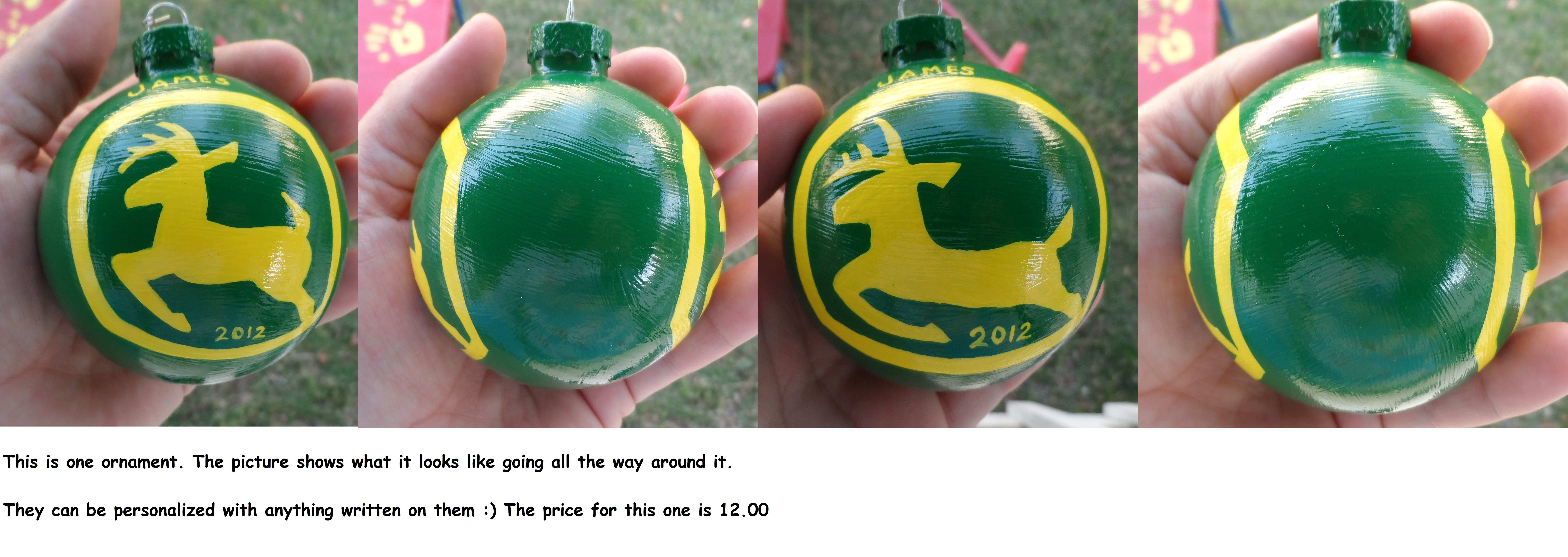 The John Deere logo- love it!!!! I sold alot of these! | Christmas ...