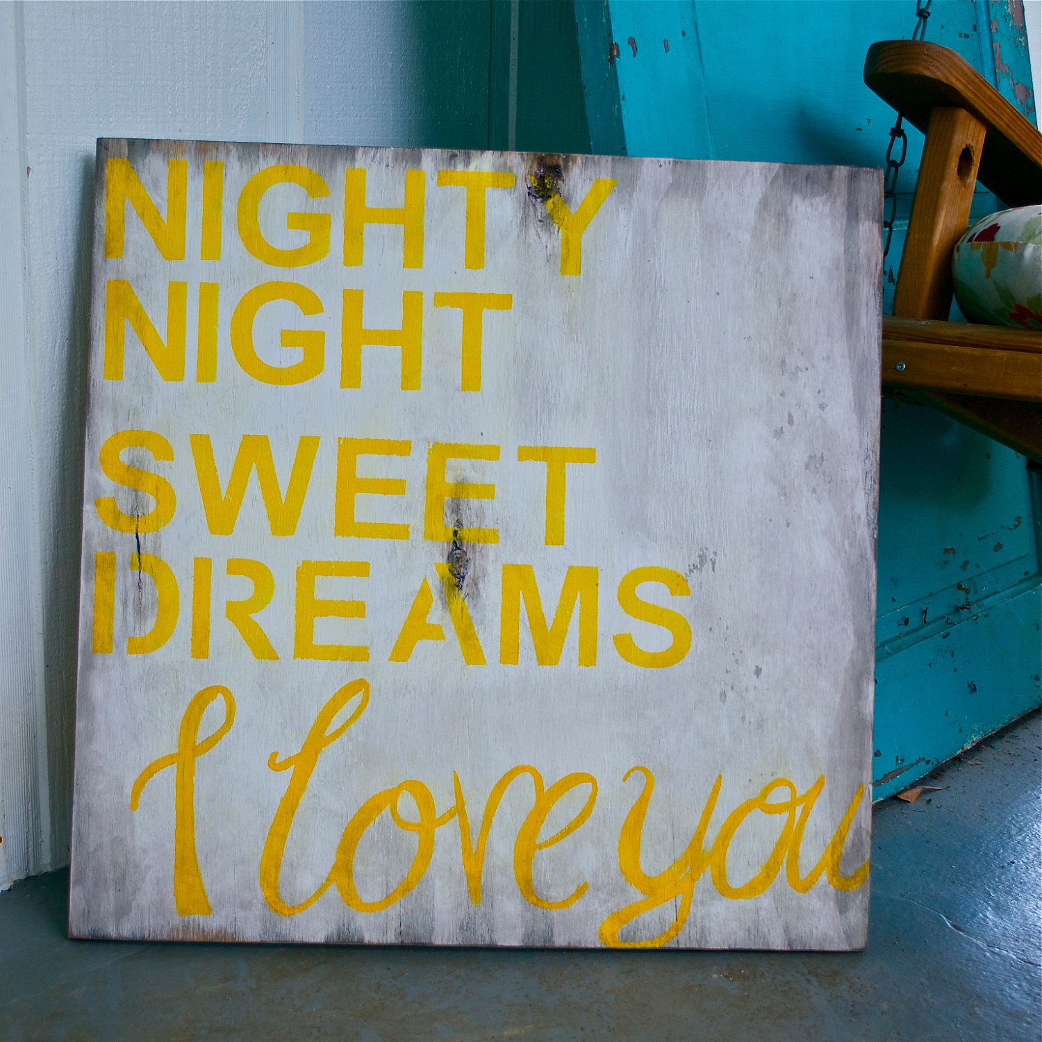Shabby Chic - Wall Art - Nursery Art - Custom Sign - Nighty Night ...