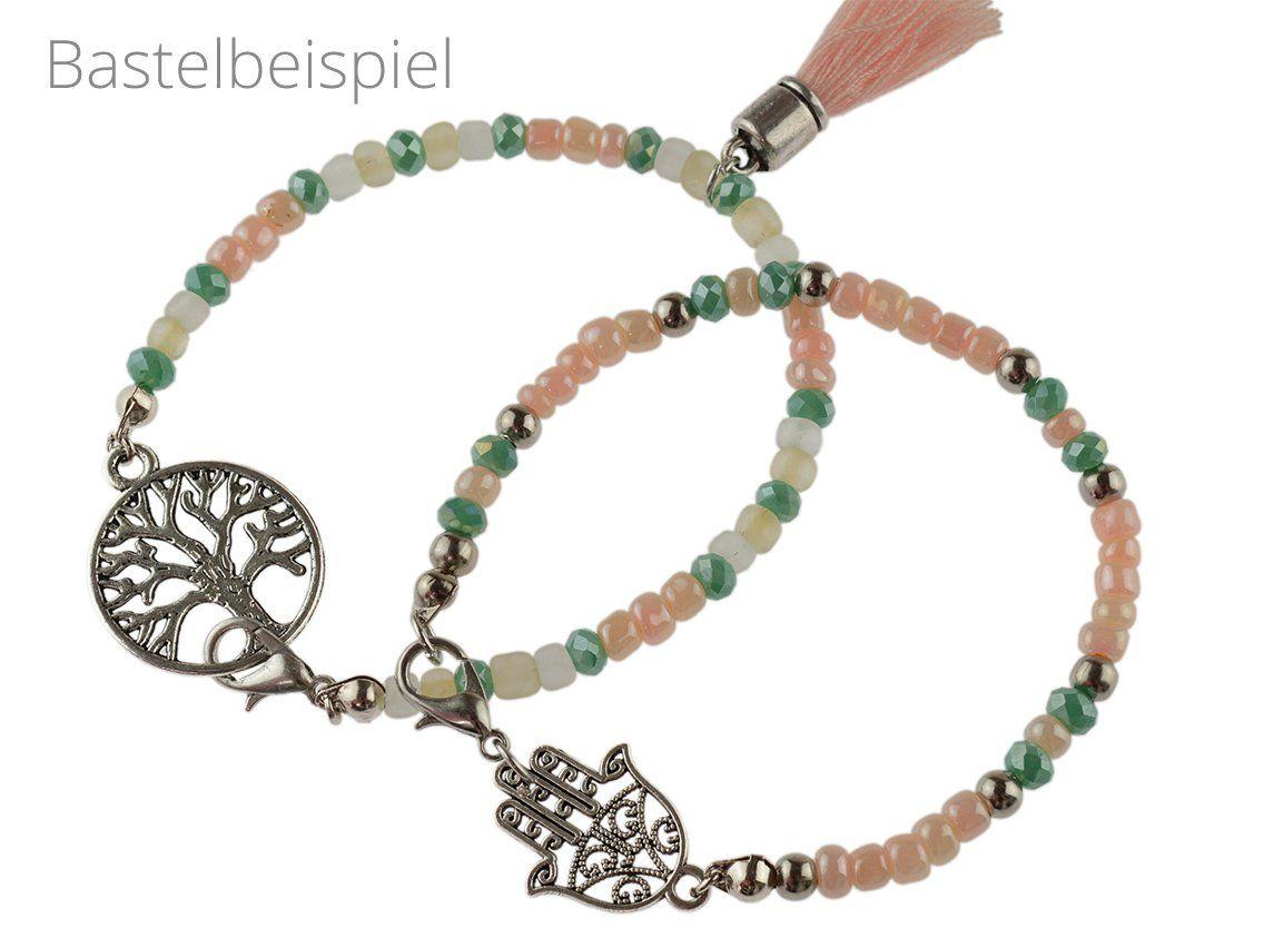 Anfanger Perlenarmband Set In Silberfarben Vintage Parts