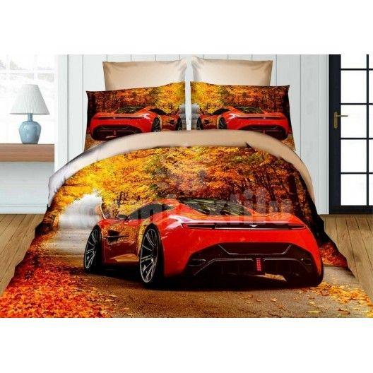 935b53af0 Detské posteľné obliečky žlto červenej farby s motívom auta Ferrari ...