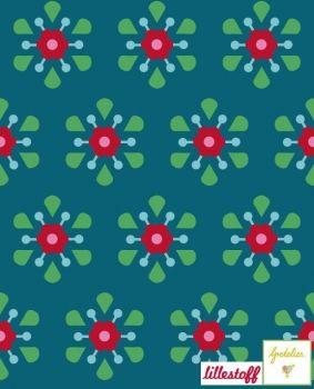 Lillestoff Retro Minis Jersey By Gretelies Schmacht Den Kaufe Ich Retro Flowers Pretty Fabric Fabric