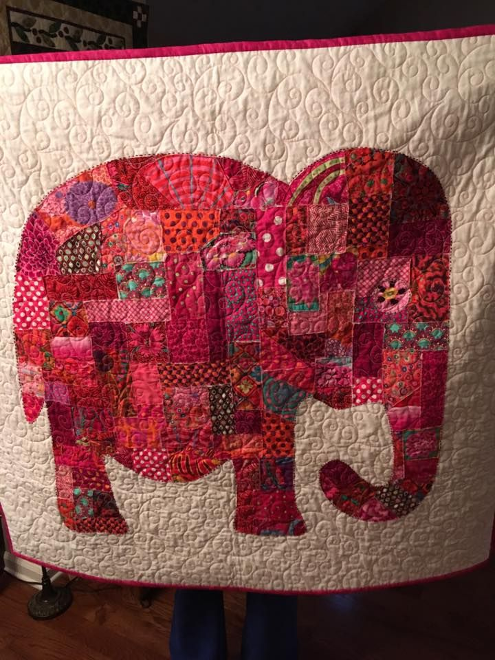 Scrappy Elephant. Pattern was in is Scrap Happy Quilting by ... : annies quilting - Adamdwight.com