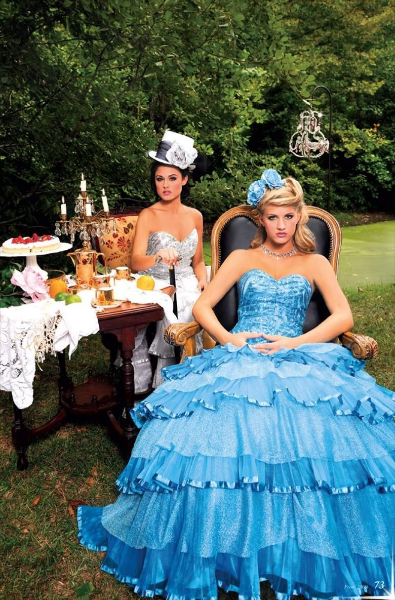 Haughty, ball gown Alice. And sparkly Mad Hatter.-Alice in ...