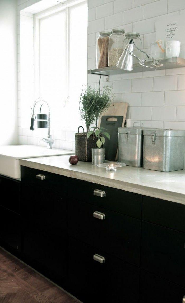 Zwarte keuken lichtblad witte achtergrond kitchen pinterest