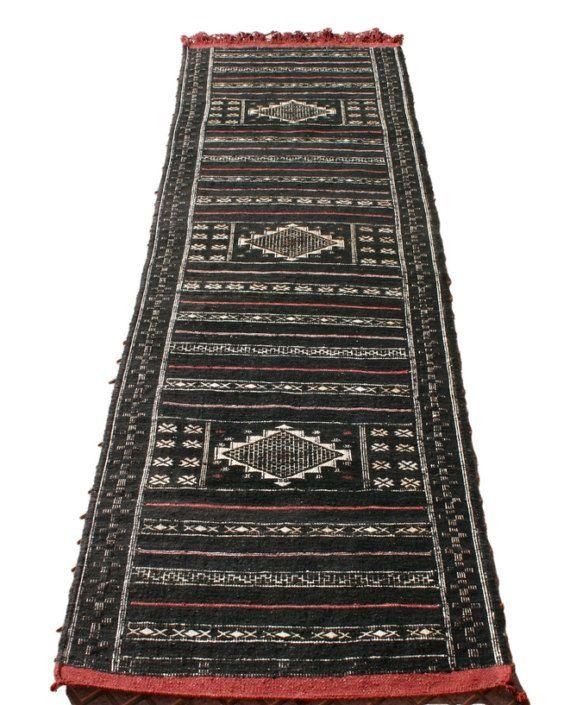 Teppich läufer weiß  Schwarzer Läufer, Schwarzer Teppichläufer, Teppich Läufer Schwarz ...