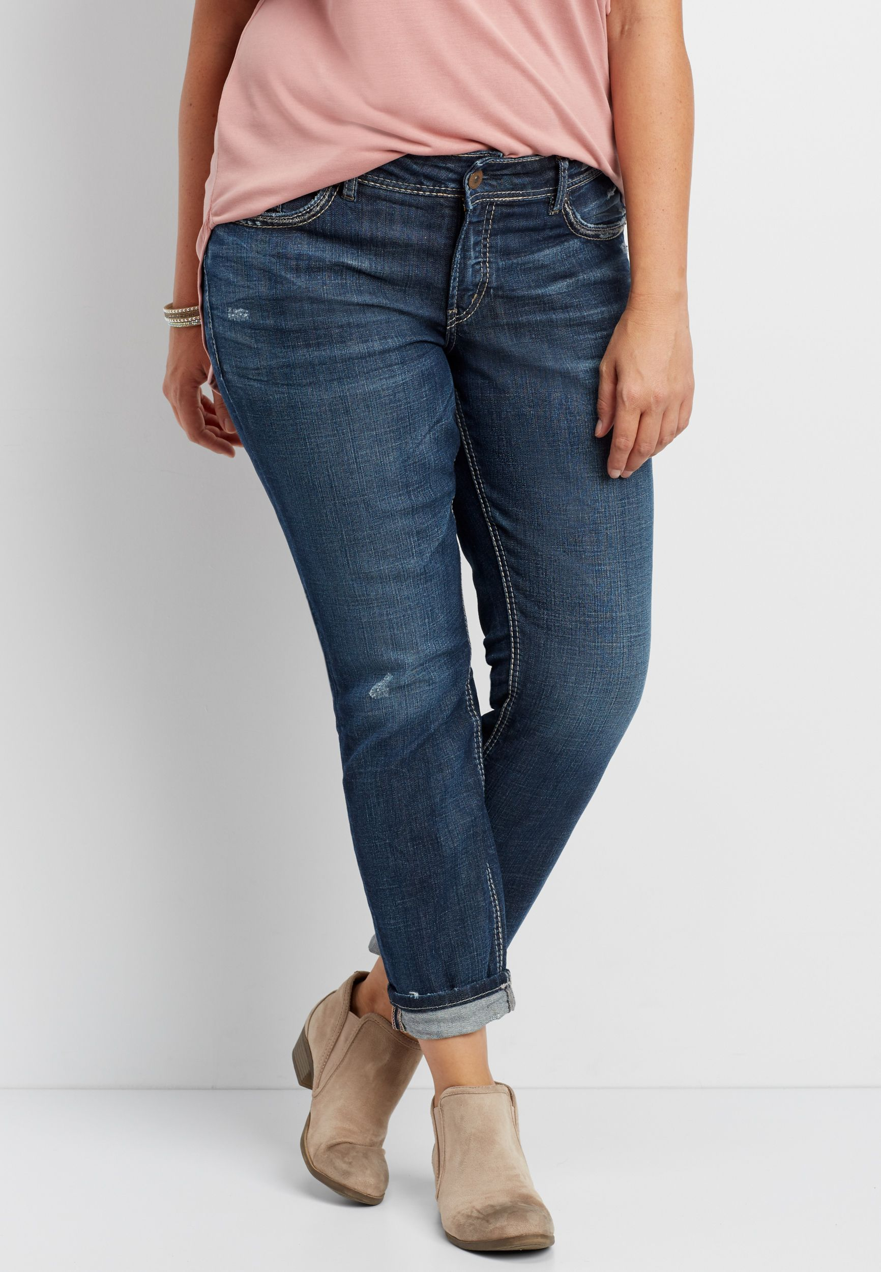 96199811 Silver Jeans Co.® Avery plus size straight leg jeans (original price,  $89.99) available at #Maurices   Clothes   Jeans, Skinny jeans, Pants