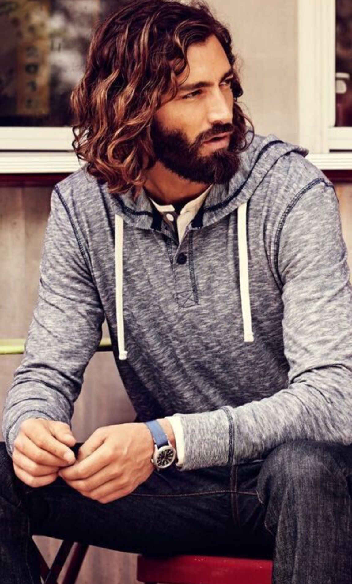 Curly One Length Mens Pinterest Hair Haircuts For Men And