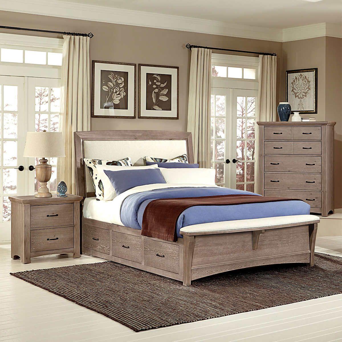 Chambers dual storage 4piece king bedroom set master