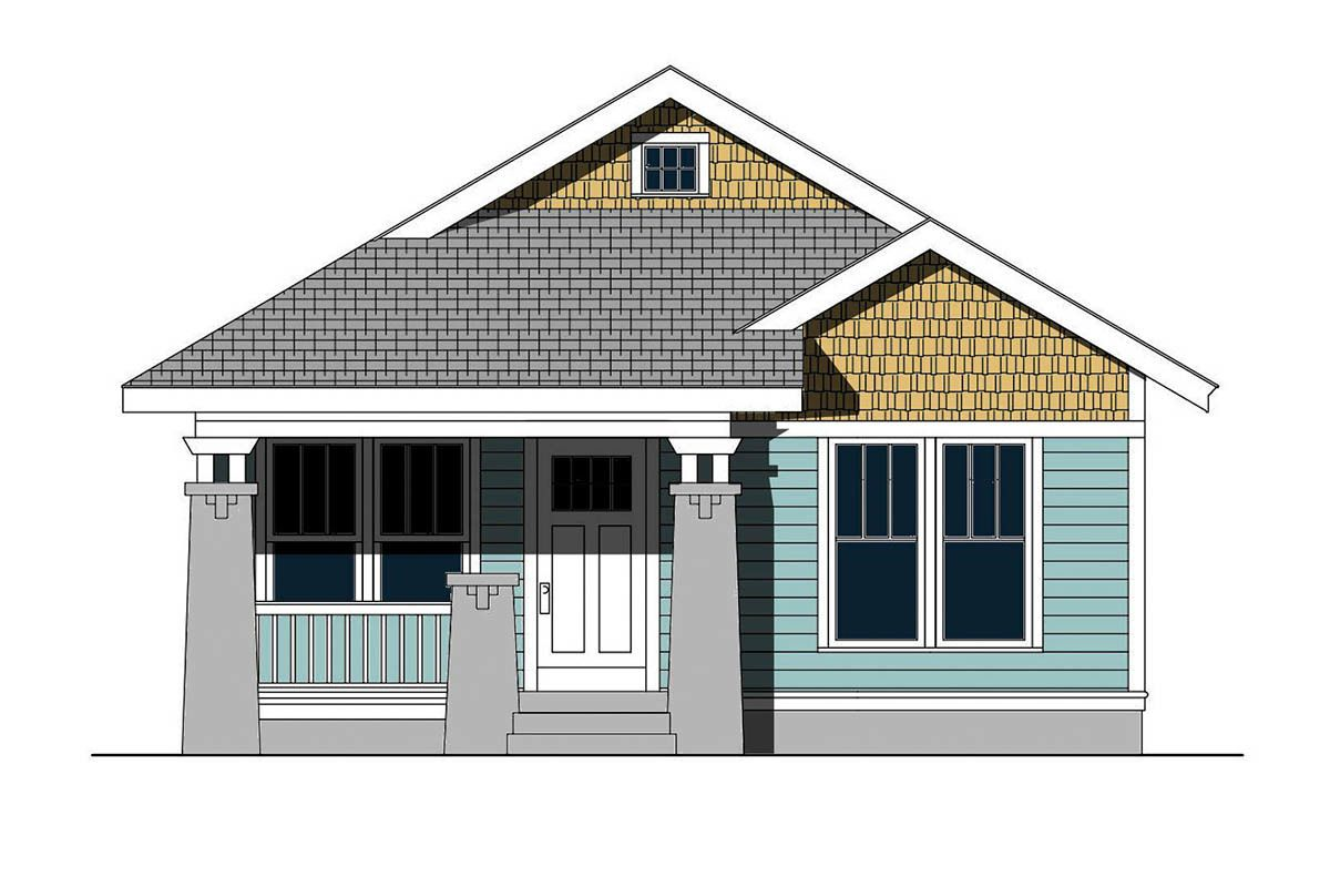 Plan 50174ph 3 Bed Cottage House Plan For The Narrow Lot Cottage House Plans Narrow House Plans House Plans