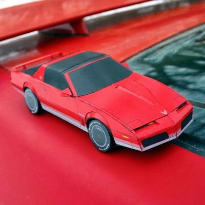 80's Pontiac Firebird Papercraft | DIY Gaming accessories