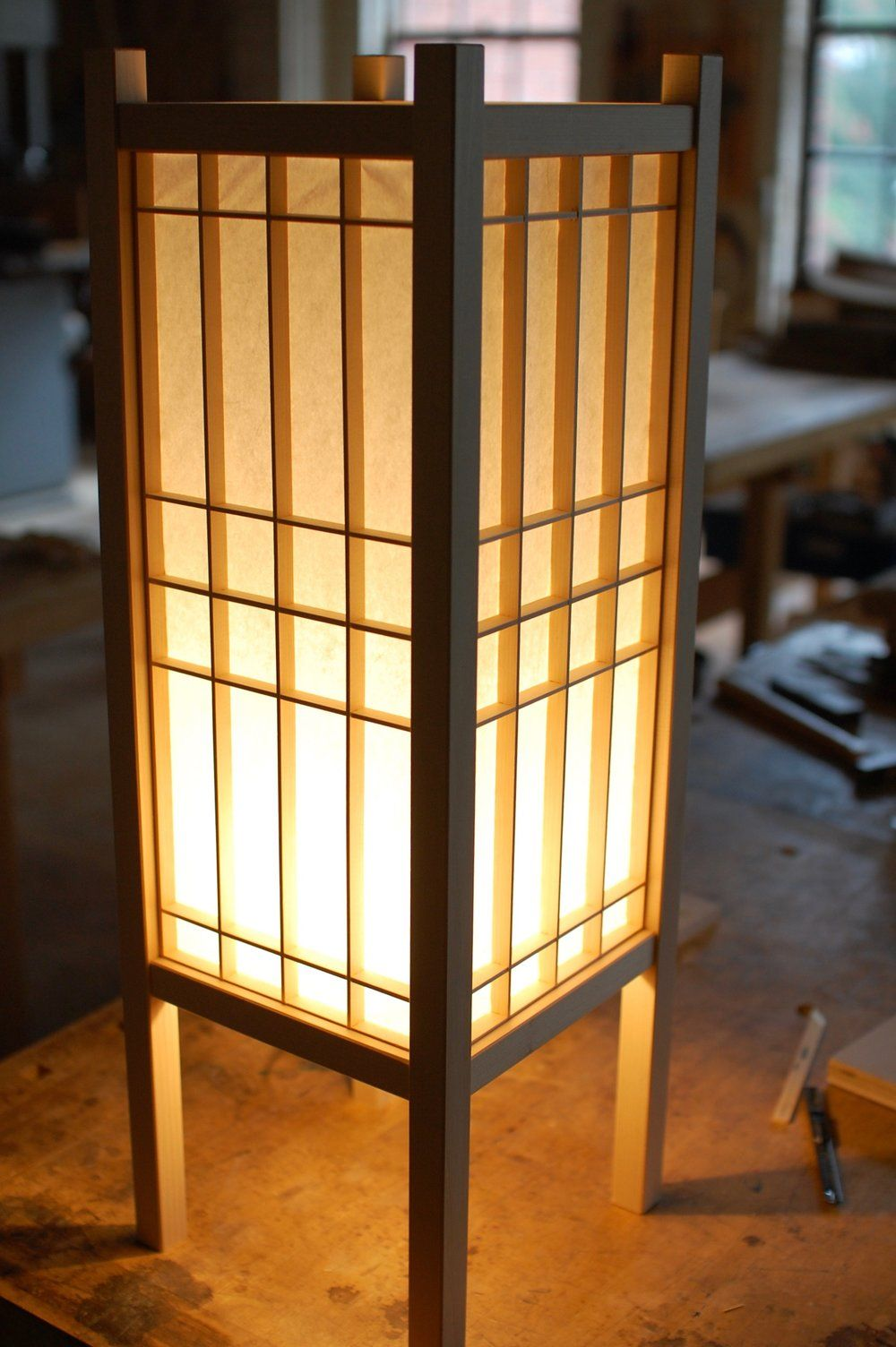 Andon Making A Traditional Japanese Lamp Philadelphia Furniture Workshop In 2020 Japanese Lamps Japanese Home Decor Japanese Bedroom
