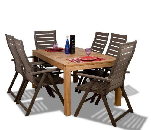 Amazonia Teak Helsinki 7-Piece Teak/ Faux Wood Rectangular Dining Set by Amazonia Teak. $1877.81 ...
