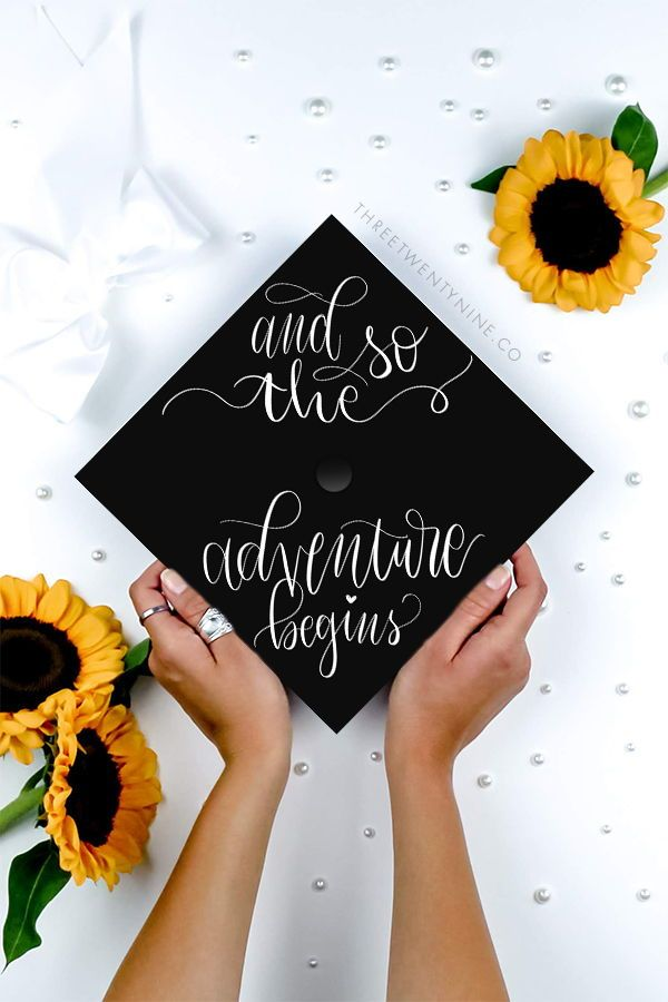 Graduation Cap Decoration | DOWNLOAD ONLY | And So The Adventure Begins | Graduation Cap