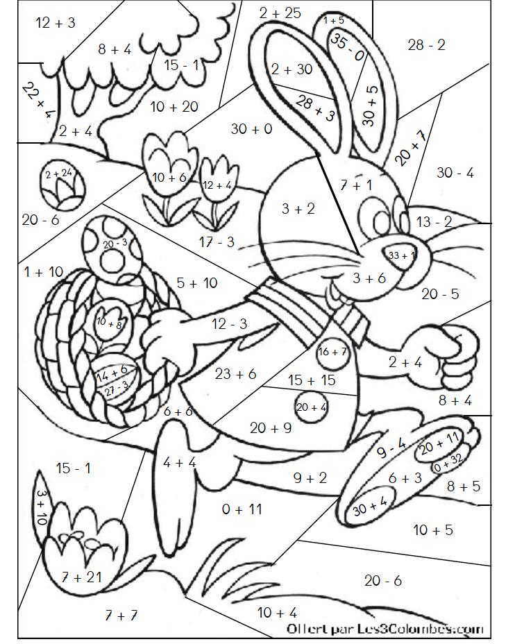 Coloriages magiques coloriage math multiplication math worksheets et the invisible boy - Coloriages magiques additions ...