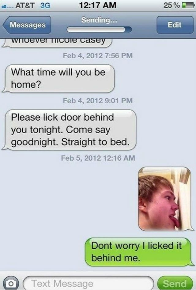 Lick it text message