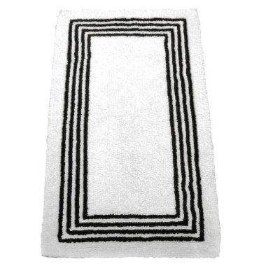 fieldcrest luxury stripe bath rug - bison brown $24.99