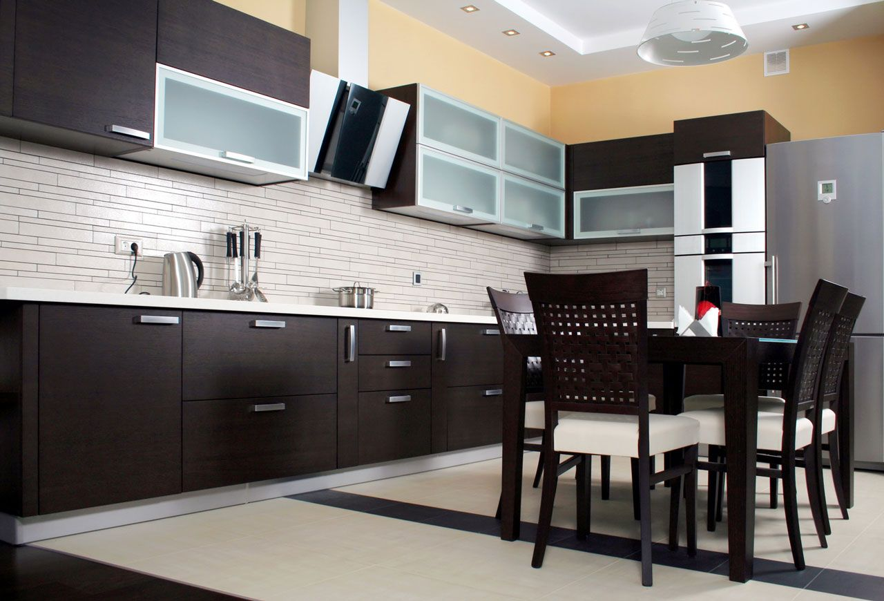 Appealing Modern Kitchen Cabinet Doors With Black Wood Material Feat Gorgeous White Wooden Modern Kitchen Furniture Modern Kitchen Design White Modern Kitchen