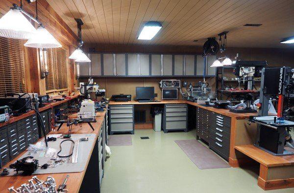 Top 60 Best Garage Workshop Ideas Manly Working Spaces Basement Workshop Garage Workshop Layout Workshop Layout