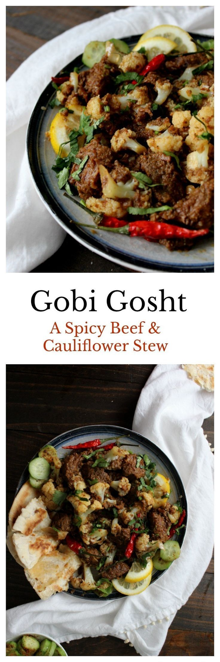 Gobi Gosht Beef Cauliflower Stew Recipe Indian Food Recipes Halal Recipes Spiced Beef
