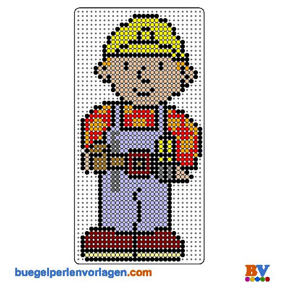 Bob der Baumeister Bügelperlen Vorlage | punto de cruz | Pinterest ...