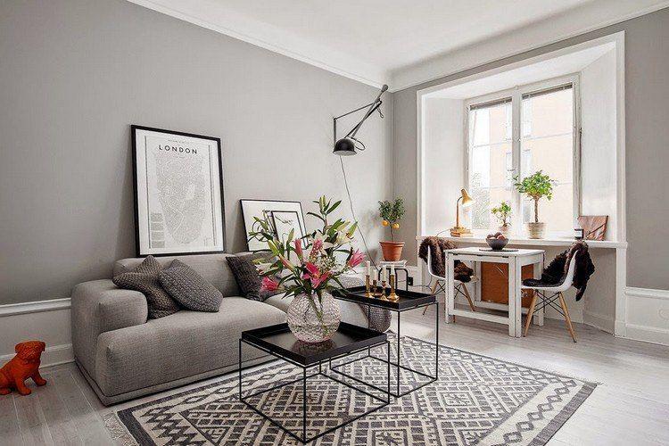 Déco salon gris blanc bois en 35 idées pour revitaliser votre