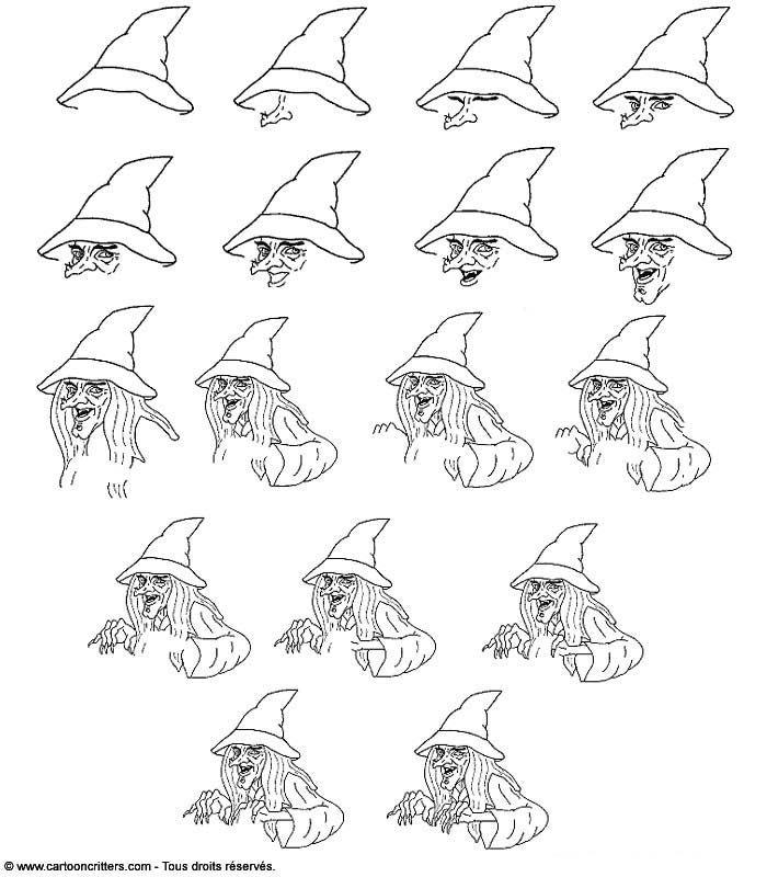 Pingl par o 39 malley thorgerson sur dessin pinterest - Comment dessiner une sorciere facilement ...