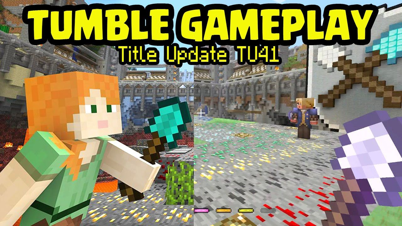 Minecraft PS3, PS4 - TUMBLE GAMEPLAY! TITLE UPDATE TU41 OUT NOW