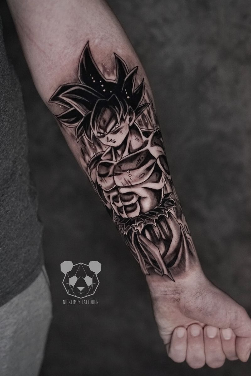 Ultra Instinct Goku Tattoo Dragon Ball Tattoo Tattoos Manga Tattoo