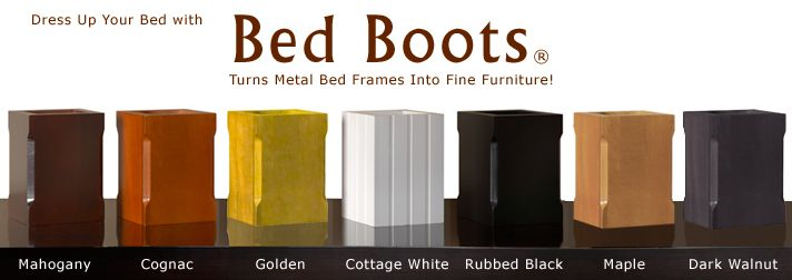 Best Bed Boots® Dress Up Your Bed Metal Bed Frame Leg Covers 640 x 480