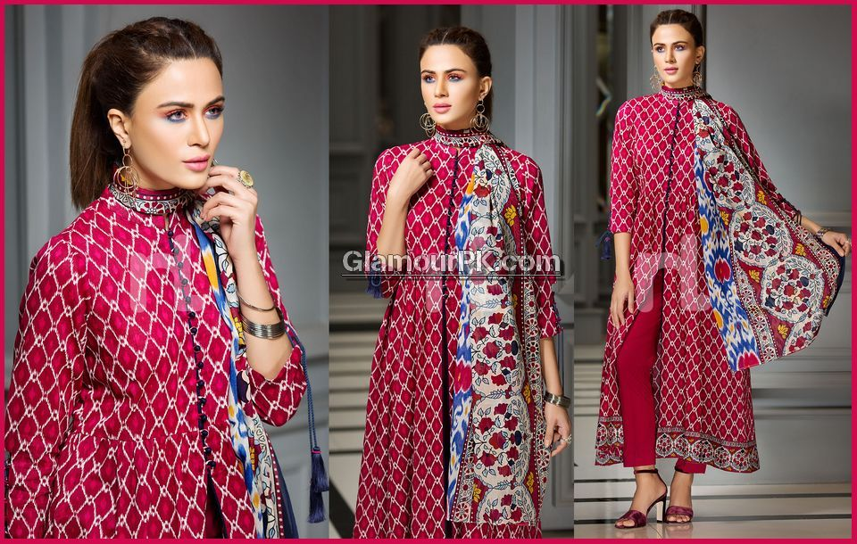 fae6fb82f03 Nishat Linen Lawn 2018 With Price 41800093-Lawn - Red Printed 3PC Product  SKU  000355002108 Price  PKR 2