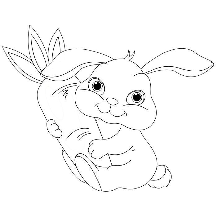 Dessin lapin belier imprimer ces coloriages de lapin gratuitement les coloriages de lapin - Canard dessin facile ...