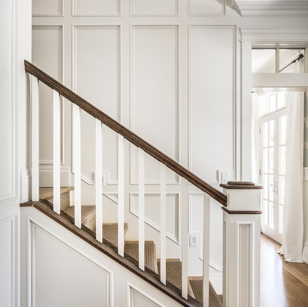 Beautiful Interior Staircase Ideas And Newel Post Designs: Pin By Missy Locklear On Millwork & Details