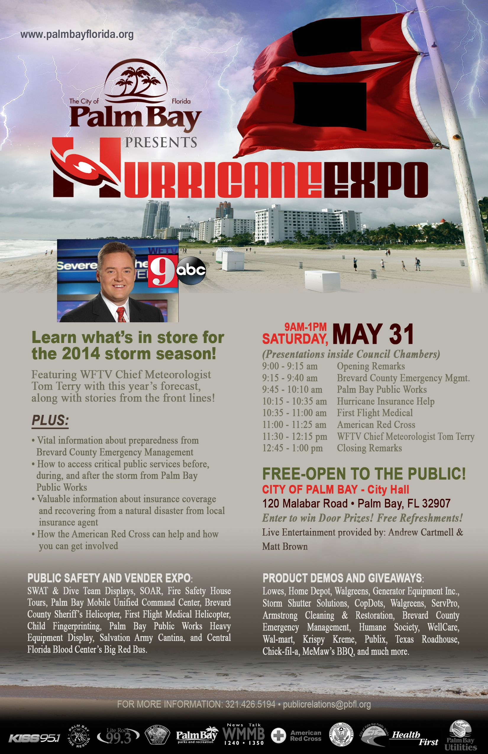 Palm Bay PD 2014 Hurricane Expo is Saturday May 31st from