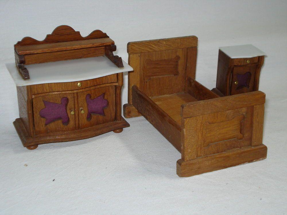 Schlafzimmer aus der Gründerzeit für alte Puppenstube | Gründerzeit ...
