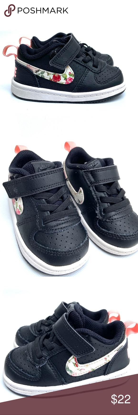Misericordioso aprobar Tradicion  Nike Court Borough Low Vintage Floral Children's | Cute shoes, Black nikes,  Vintage floral
