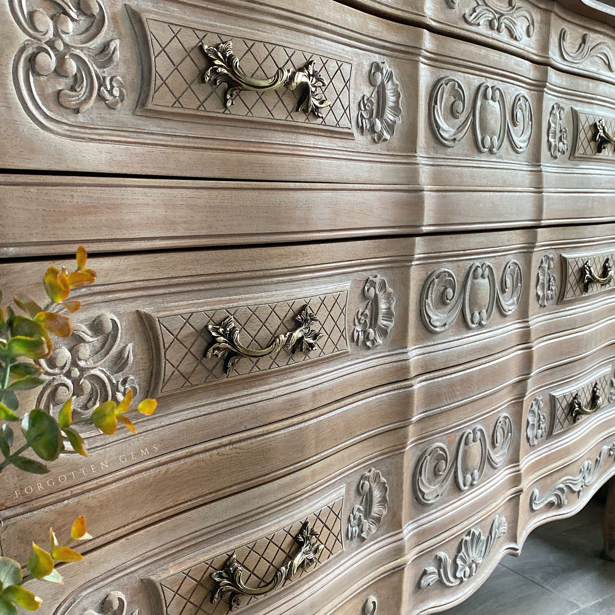 French Oak Drawers White Washed & White waxed for a