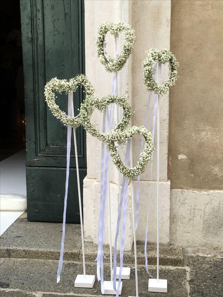 Herz Ständer Eingangsdeko #decorationeglise